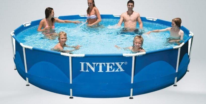 Intex 12x30 metal frame pool with pump