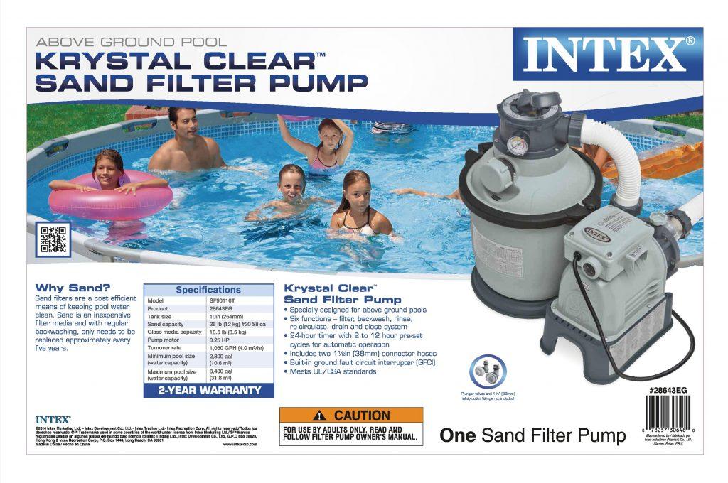 Intex Krystal Clear Sand Filter