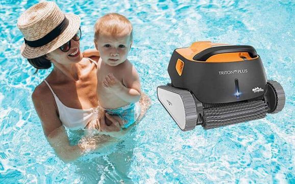Dolphin triton ps automatic robotic pool cleaner review