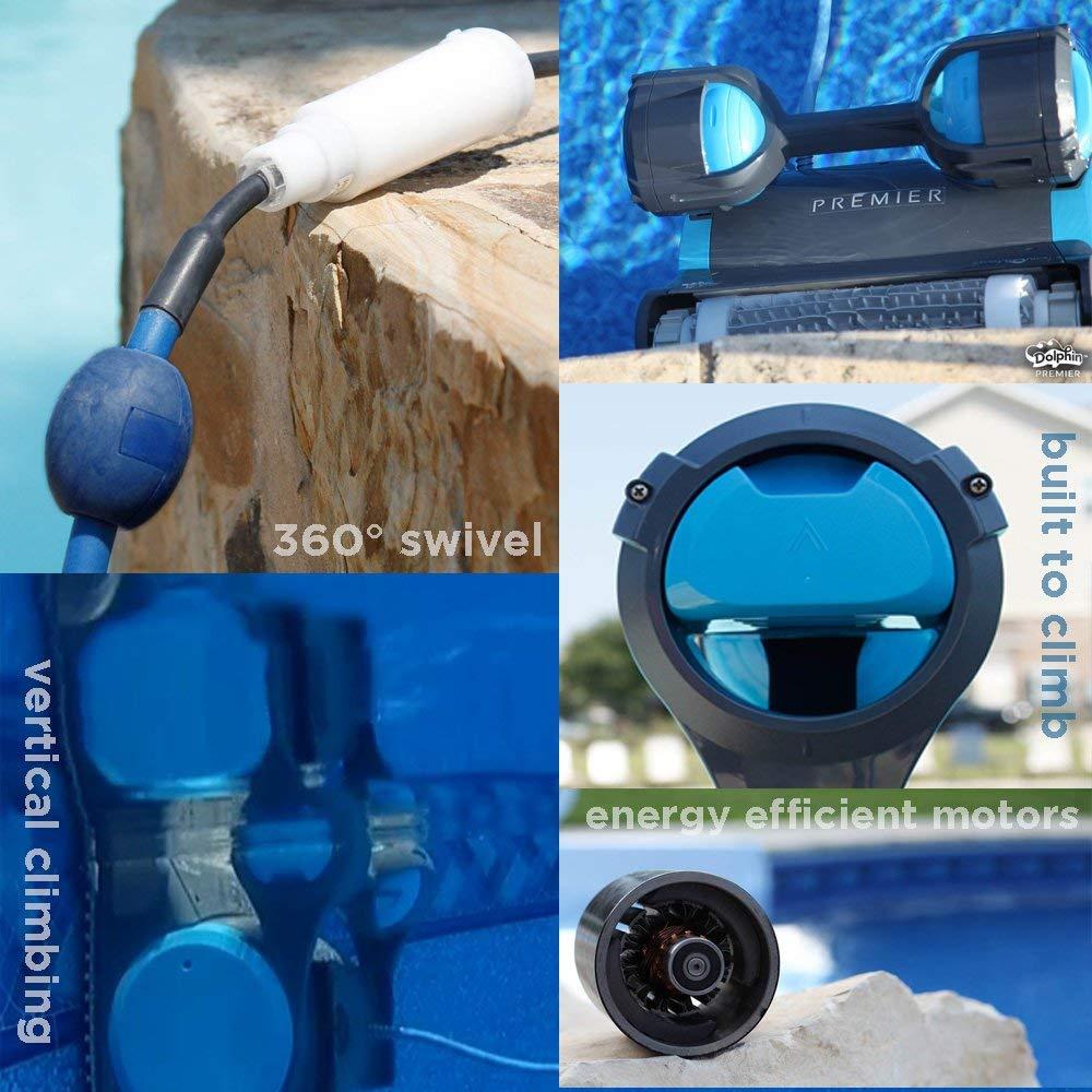 Dolphin premier robotic pool cleaner with multi-media smartnav & 3/year warranty