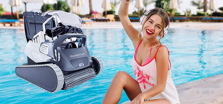Dolphin quantum robotic pool cleaner review | Pools up to 50 Feet