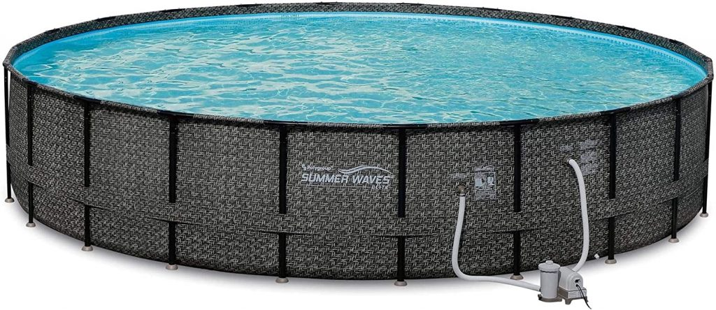 Summer Waves Elite 22ft x 52in Above Ground Frame Outdoor Swimming Pool