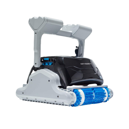 Dolphin odyssey commercial robotic pool cleaner with caddy and remote