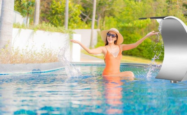 best swimming pool waterfalls