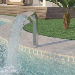 VidaXL Stainless Steel Pool Fountains for In Ground Pools Garden Outdoor Waterfalls