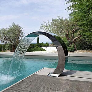 Fengyj Stainless Steel for Pools Garden Outdoor Pond WaterFall