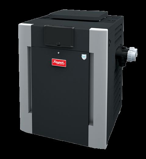 Raypak digital natural gas pool heater 399k btu