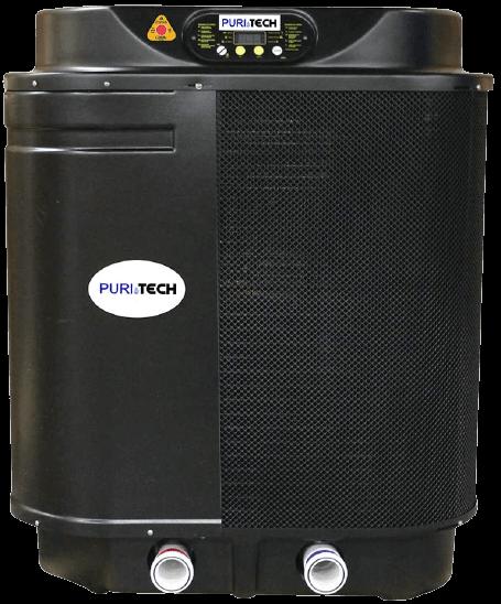 Puri tech quiet heat 112 000btu pool heat pump with savings optimizer