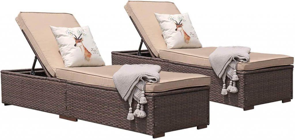 Patiorama Patio Chaise Lounge Chair, Sun Lounger