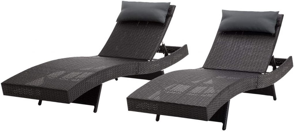 Mcombo Patio Chaise Lounge Chair