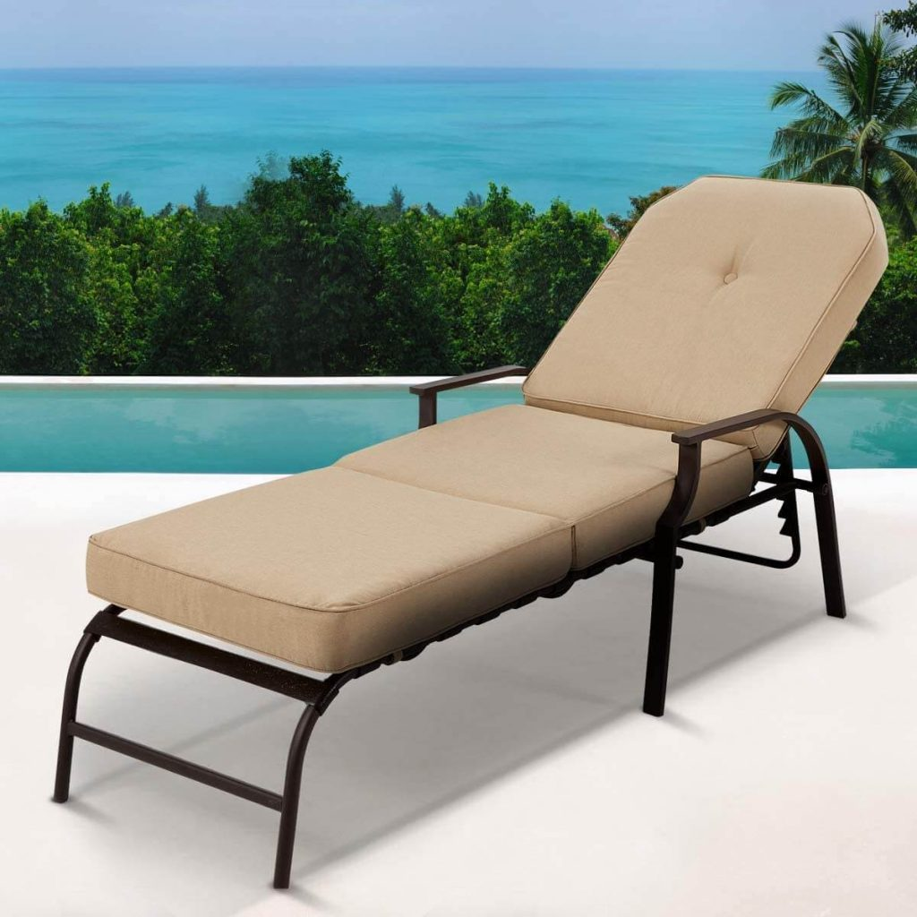 U-MAX Adjustable Outdoor Chaise Lounge Chair