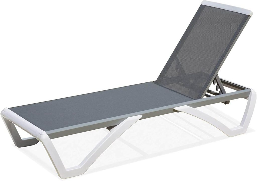 domi outdoor living Aluminum Outdoor Adjustable Chaise Lounge