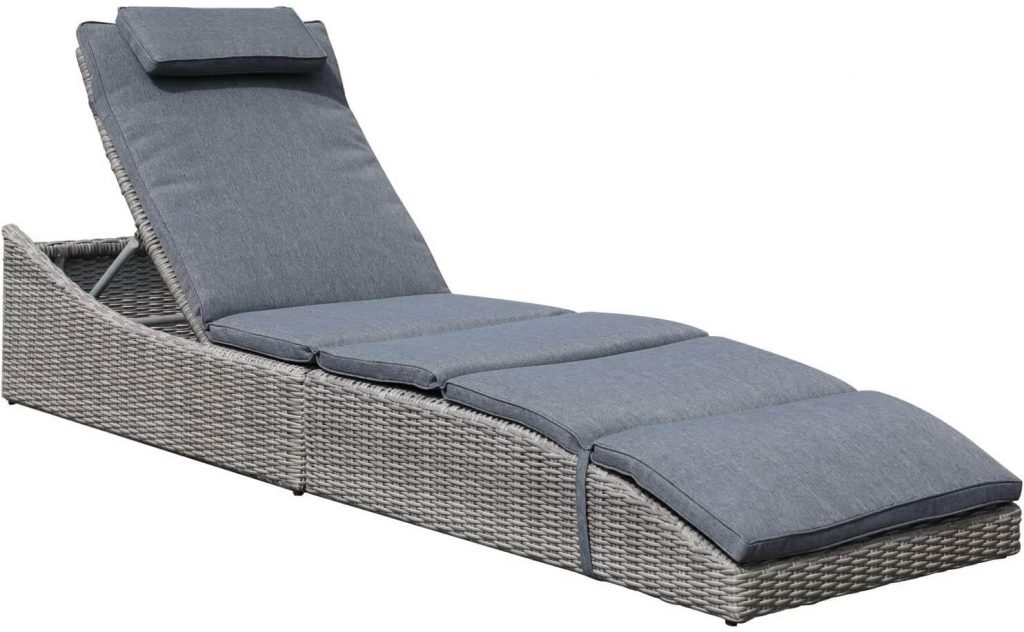 Soleil Jardin Folding Outdoor Adjustable Chaise Lounge Chair